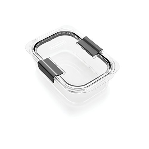 Rubbermaid Brilliance Food Storage Container, Medium, 3.2 Cup, Clear 1991156