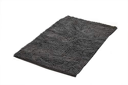 Ridder Soft badmat, tapijt, mat, polyester, antraciet, ca. 45 x 65 cm.