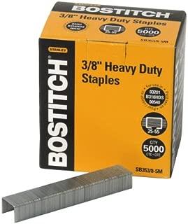 Bostitch Heavy Duty Premium Staples, 25-55 Sheets, 0.375 Inch Leg, 5,000 Per Box (SB353/8-5M)