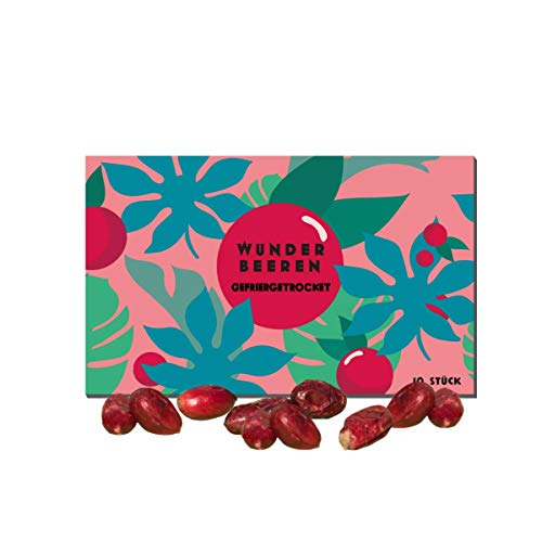 10 Gefriergetrocknete Wunder Beeren/Miracle Berry/Miracle Fruit mit Samen - Agarbatti (10)