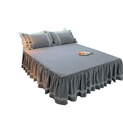XXT Modestars Bett Rock, bettdecke, Bett Rock bettdecke staubschutz, Haus gefaltete dreidimensionale Bett Rock Textil (Color : Gray, Size : 1.2m*2.0m)