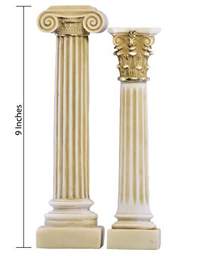 Lot de 2colonnes grecques ionique et Style corinthien Colonne sur Pied Décoration Sculpture