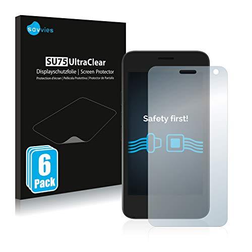 Savvies 6X Schutzfolie kompatibel mit Archos Access 45 Bildschirmschutz-Folie Ultra-transparent