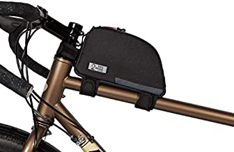 Two Wheel Gear Bike Frame Bag - Water Resistant Commuter Top Tube Bike Bag with Waterproof Zippers, Perfect for Mountain Biking, Work, and Hiking