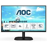 AOC Monitor Italia 27B2H LED da 27' IPS, FHD, 1920x1080, 75Kz, VGA, HDMI, Nero