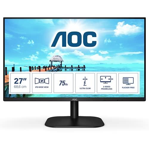 AOC 27B2H - 27 Zoll FHD Monitor (1920x1080, 75 Hz, VGA, HDMI) schwarz