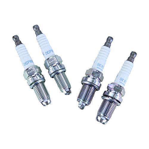 Zündkerzen: 2 STK. NGK BKR7EKC + 2 STK. NGK DCPR8EKC für BMW mit Doppelzündung