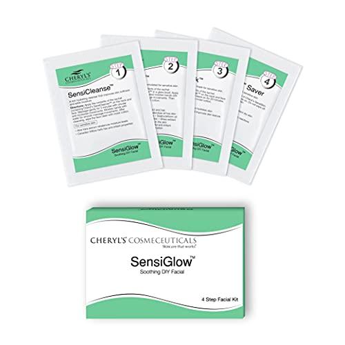 Cheryl's Cosmeceuticals SensiGlow 1 Pack Skin Soothing 4-step Easy DIY Anti -Irritant Facial Kit for Sensitive Skin for Women and Men, 17 gm