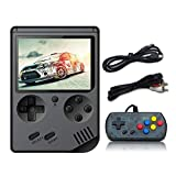 Anbernic Handheld-Spielekonsole, Retro FC Spielekonsole, Videospielekonsole mit 3Zoll 8Bit 500 Klassikern (schwarz)