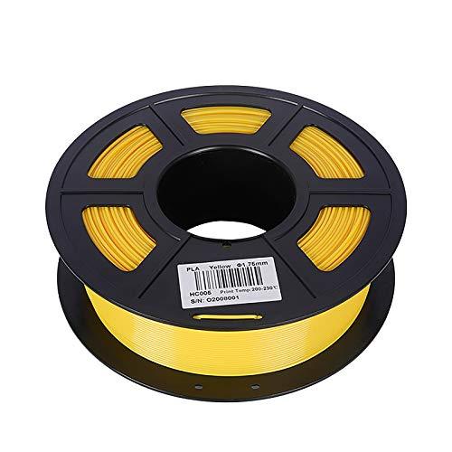 Filamento Per Stampante 3D PLA 1.75 Mm Filamento PLA Precisione Dimensionale +/- 0,02 Mm Bobina Da 1 Kg (2,2 Libbre) Materiale Di Stampa 3D 300 M(Color:giallo)