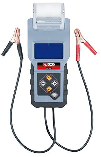 KS TOOLS 550.1646 Testeur Digital 12v de Batterie et Circuit de Charge avec imprimante intégrée, Rouge/Gris