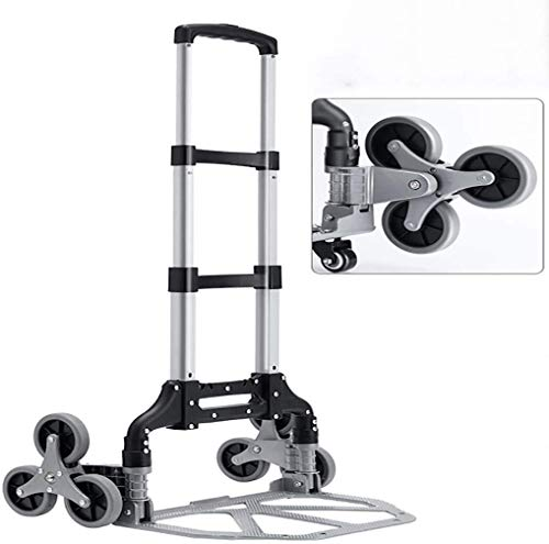 Wan QIN Shopping Cart Trolley Foldable, 10-Wheels Stair Climber Utility Cart with Detachable Waterproof Canvas Bag,thick aluminum alloy bracket, bag style shopping cart (Size : B)