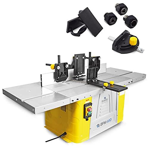 BAMATO Tischfräsmaschine BFM-610 mit variabler Drehzahlregulierung inkl. Spannzangenset