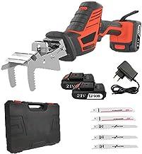 Sierra de calar a batería recargable con 2 baterías portátil compacto 21 V máx. 1,5 Ah Kit con cuchillas Maletín herramientas