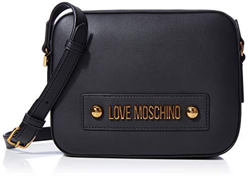 Love Moschino Damen Jc4027pp1a Umhängetasche, Schwarz (Nero), 6x17x22 centimeters
