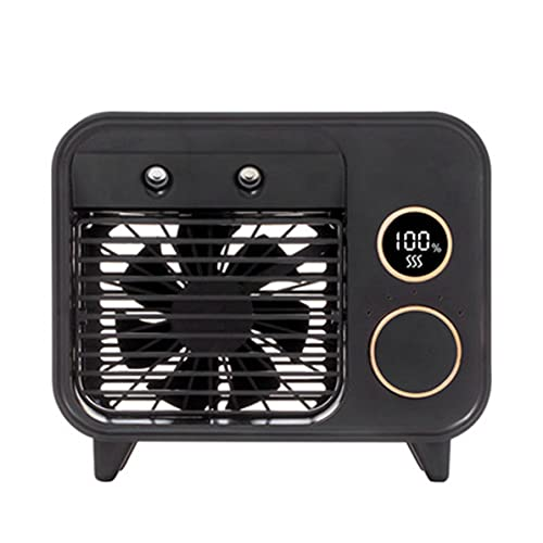 Ventola Condizionatore d'aria portatile Raffreddatore d'aria Luce a LED Mini ventola di raffreddamento a 5 velocità Umidificatore da tavolo Ventola a nebbia Regalo per l'home office estern