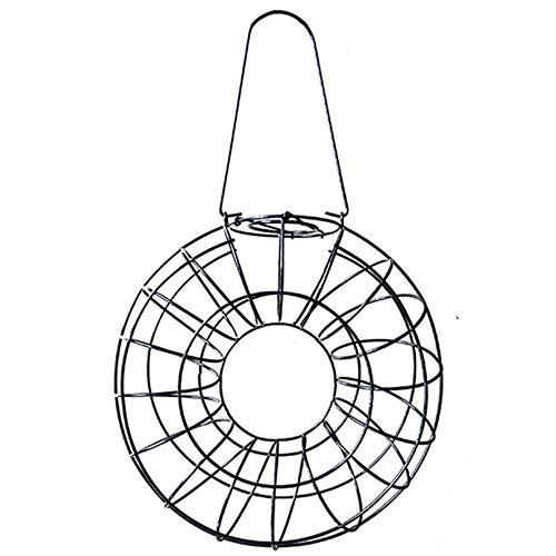 Alimentador de pájaros automático para colgar circular al aire libre Big Ball Estación de alimentación de semillas de aves silvestres Suministro de aves para jardín y patio trasero - Negro 1 tamaño