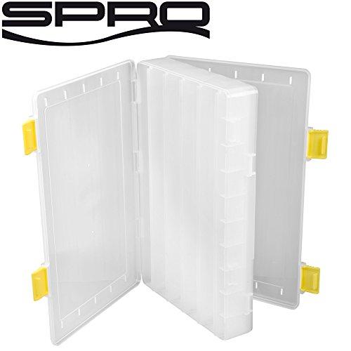 Spro Hardbaits Box XL 33,5x24x6,2cm - Köderbox für Wobbler & Jerkbaits, Angelbox für Kunstköder, Baitbox für Crankbaits & Jerks