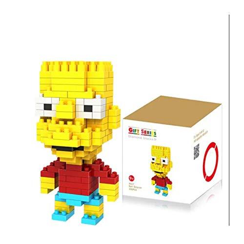 Outletdelocio. LOZ 9337. Kit de construccion miniaturizada. Bart Simpson. 200 Piezas