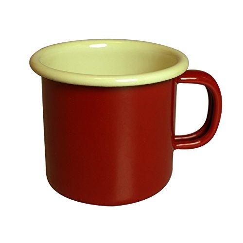 Dexam Vintage Home Espresso-Tasse, Emaille, 150ml, Weinrot