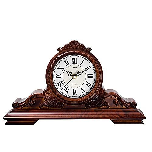 거실 내무반을 위한 맨텔 시계 데스크 벽난로 맨텔 시계 침묵 비티킹