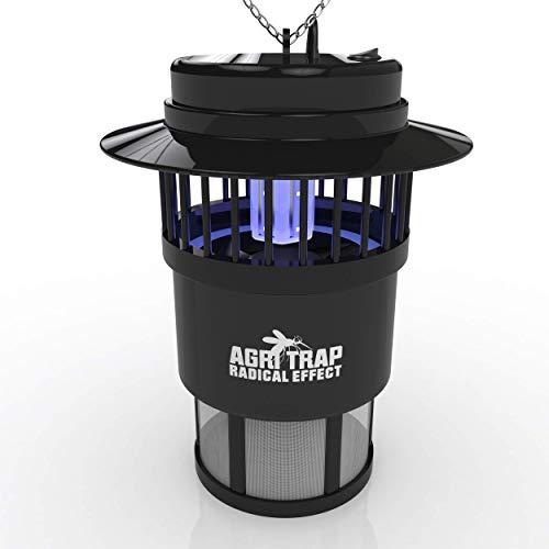 AGRITRAP Saturno Lámpara Antimosquitos Eléctrico Exterior 2000m2 - Polillas, Avispas, Insectos - Hogar, Oficina, Jardín Lámpara Eléctrica Exterior