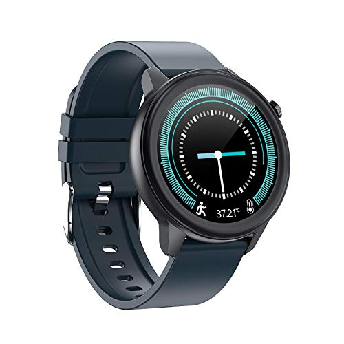 E80 Smart Watch, Fitness Tracker,2021style, Ip68 Waterproof, with Oxygen Saturation, Bluetooth Call, Children's Male and Female Pedometer,Removable Strap(Blue)