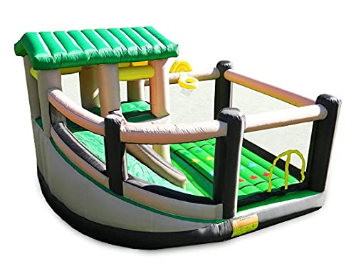 Product Image of the Island Hopper Fort All Sport Recreational Kids Bounce House with Fort Area,...