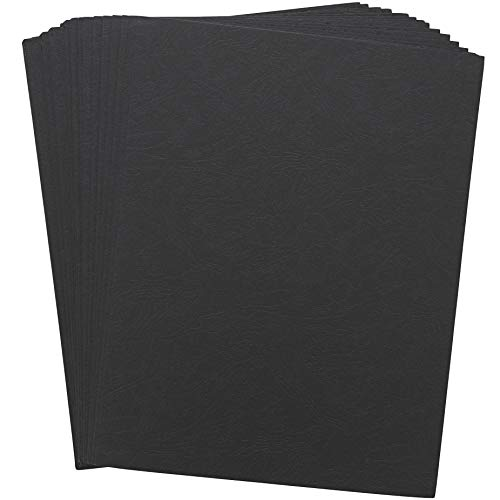 Binding Presentation Covers (11 x 8.5 In, Black, 100 Sheets)