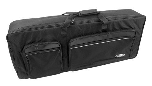 Classic Cantabile KT-D Keyboardtasche Größe D schwarz (Innenmaße 140 x 40 x 15cm, Schaumstoffpolsterung, Reiß- und Wasserfest, Rucksackgurte verstellbar)