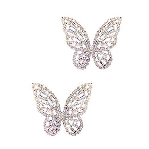Feixing Pendientes de mariposa de lujo con estilo de temperamento coreano