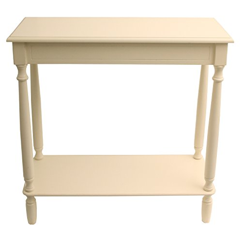 Décor Therapy Console table, 28.25' W x 11.8' D x 28.25' H, Antique White