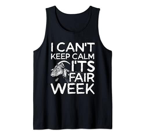 No puedo mantener la calma es la semana feria | pastor de cabra Camiseta sin Mangas