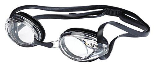 Speedo Junior Vanquisher Optical Swim Goggle, Clear/Clear, 8.0