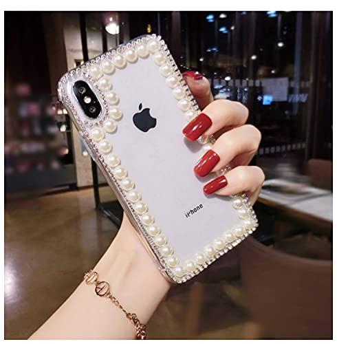 Funda de teléfono Pearl Diamond para Samsung Galaxy A3 A5 A7 2017 A9 A8 A6 Plus A50 A70 A80 Funda Transparente, 1, para A8 Plus 2018