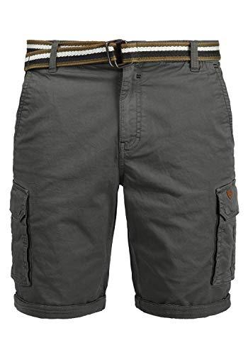 Blend Brian Herren Cargo Shorts Bermuda Kurze Hose Mit Gürtel Regular Fit, Größe:3XL, Farbe:Granite (70147)