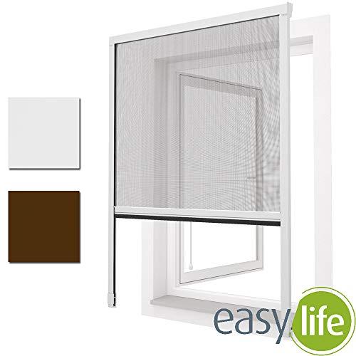 Insektenschutzgitter Rollo für Fenster Insektenschutz Mückengitter Fliegengitter 130x160cm weiß