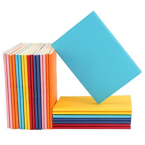 Eusoar Notizbuch, blanko, 24 Stück, gemischt, bunt, A6, 9,9 x 14 cm, Notizbuch, unliniert, Reisetagebuch, Notizblock, Set, Bulk, Studenten, Büro, Schreibtagebuch, Themennotizbücher Papier