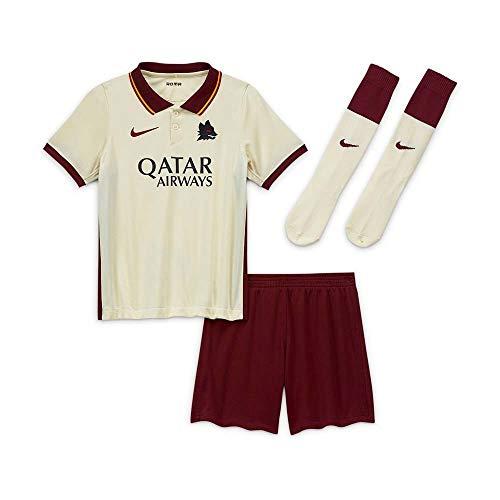Nike Kinder Roma LK NK BRT KIT AW Football Set, Pale Ivory/fossil/(Dark Team red) (Full Sponsor), S
