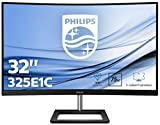 Philips Monitor Gaming 325E1C Monitor Curvo, Freesync 75 Hz, LED da 32', 2K Quad HD 2560 x 1440 VA, 4 ms, HDMI, Display Port, VGA, Flicker Free, Low Blue Light, Ultra Wide Color, VESA, Nero