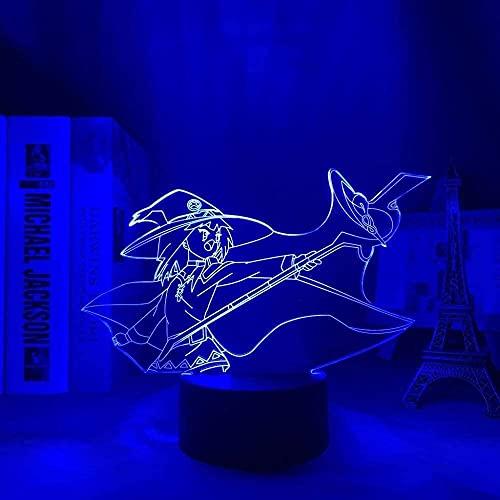 Luz de noche 3D ilusión para niños Anime lámpara konosuba & amp megumin para decoración de la habitación cabecera noche piloto regalos de cumpleaños para mujeres Konosuba Manga
