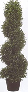 3' Rosemary Spiral Topiary Tree Artificial in Outdoor Plant Bush Plant Pool