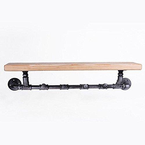 HAIZHEN Wandplank Industriële plank voor Book Shop schoenen Winkel Plank Loodgieter Pijpplank 85 * 20cm L*H Sterke stabiliteit