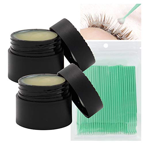 DAGEDA 2Box Professional False Eyelashes Remover Cream With Cotton Swab, Quickly and Gently Dissolve Eyelash Glue Without Irritation, Can Quickly Clean Eyelashes