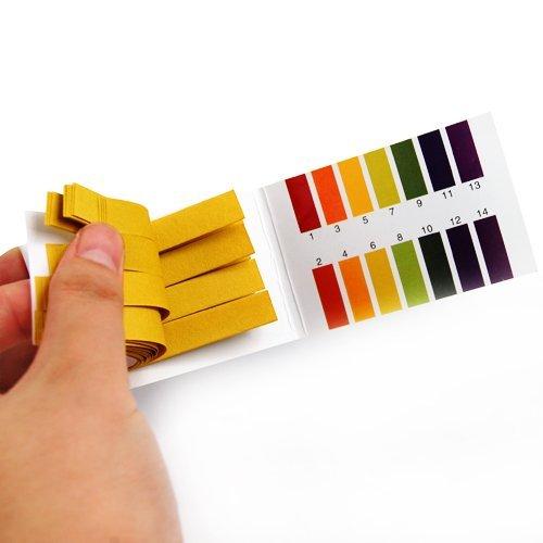 PH 1-14 Test Paper Litmus Strips Tester, Universal Application for Saliva Urine Water Soil Testing, 80pcs