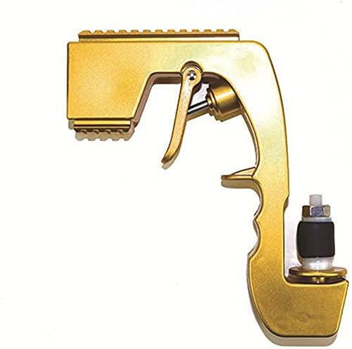 Pistola de Spray de Champagne, pulverizador de Cerveza, champán de Cerveza Sacacorchos, Dispensador de vinos de Champagne Adecuado para Fiestas, Bares, KTV, Juegos de Beber (Color : Gold)