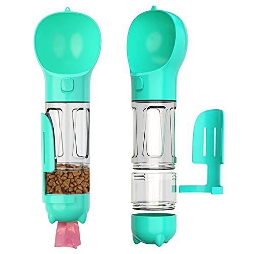 Simpeak 4 En 1 Botella Agua Perro Portatil 300ML, Botellas de Agua para Perros dispensador...