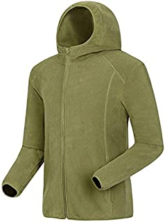 BEESCLOVER Men's Softshell Warm Jackets for Camping Hiking Trekking Climbing Outdoor Male Hooded Fleece Autumn Sports Coats KA006