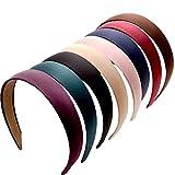 Copeflap カチューシャ レディース シンプル 髪飾り 幅広 ヘアアクセサリー ヘアバンド 無地 カラー セット (8色8本セット)