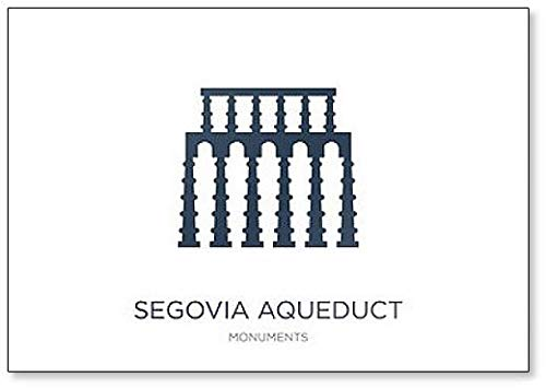 Segovia Aqueduct Imán para nevera minimalista con ilustración abstracta clásica